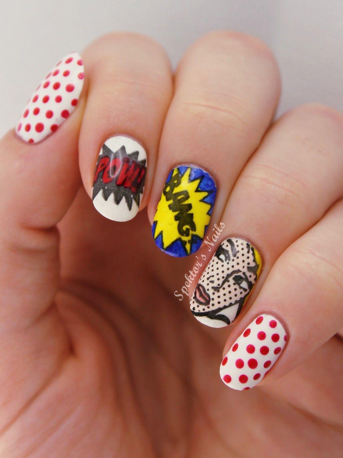 images?q=tbn:ANd9GcQh_l3eQ5xwiPy07kGEXjmjgmBKBRB7H2mRxCGhv1tFWg5c_mWT Awesome Pop Art Nails @koolgadgetz.com.info