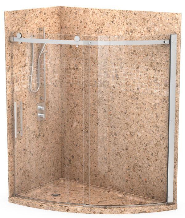 Marble shower walls   My New Master Bath   Pinterest   Shower base ...