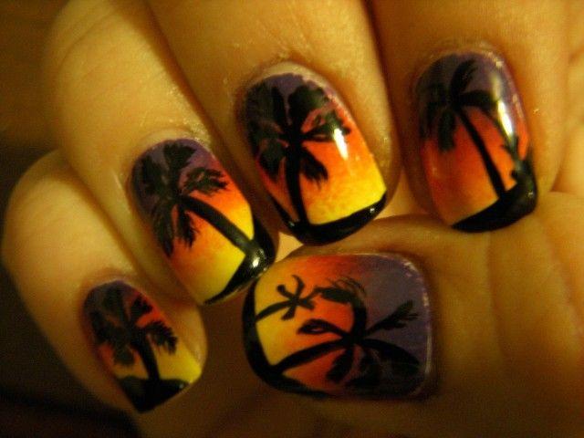 20 Sunset Nail Design Ideas Sunset Nails Vacation Nails And Sunset