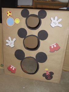 Mouse Birthday party; or a fool-proof toddler party. Mickey Mouse bean bag tossMickey Mouse bean bag toss