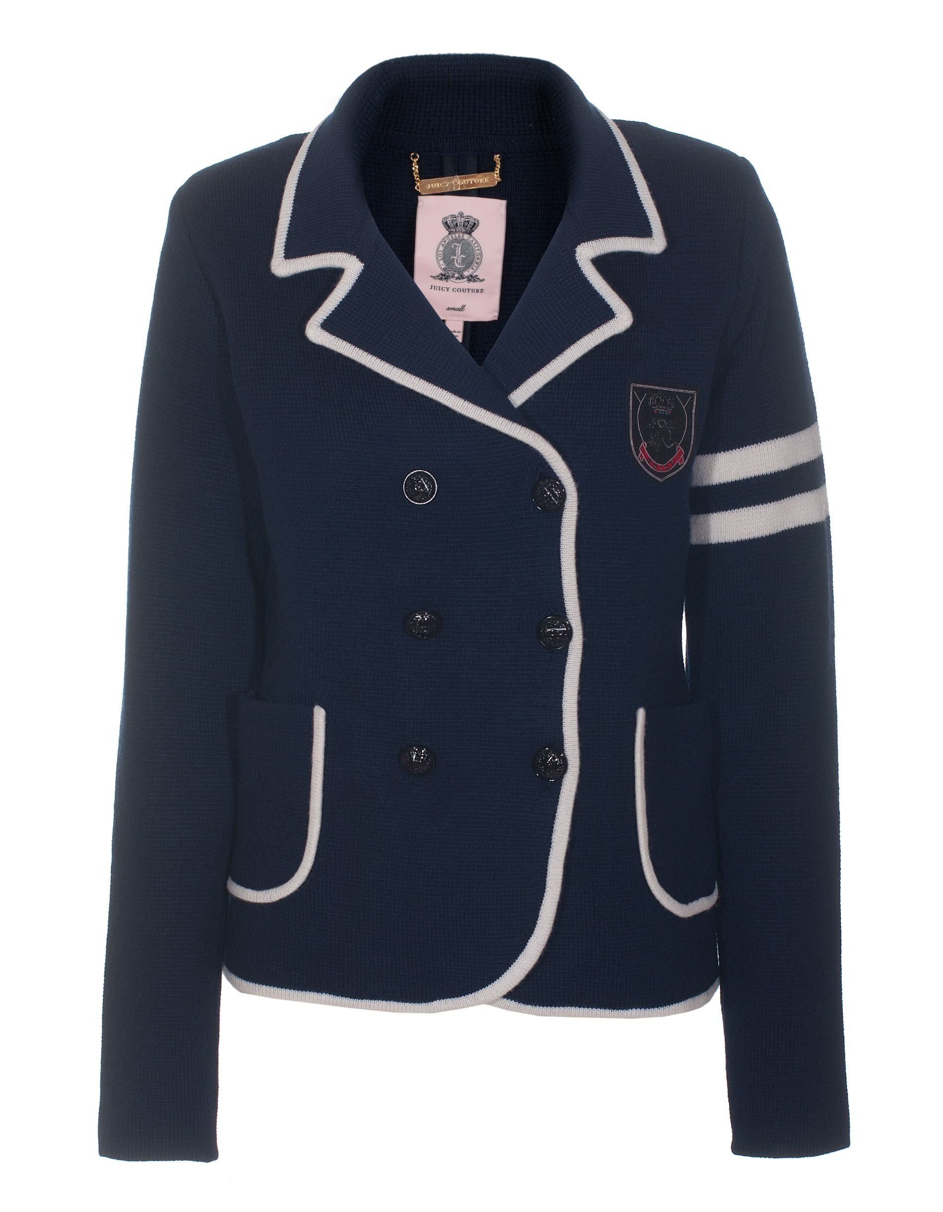 JUICY COUTURE Prep School Blue  Wool knit blazer