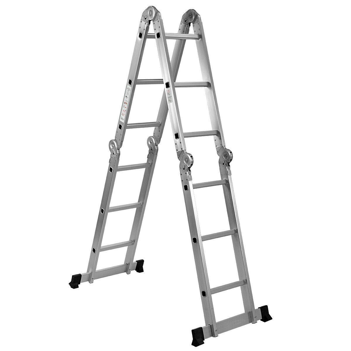 12 5 12 Step Multi Purpose Aluminum Folding Scaffold Ladder Ladders Scaffolding Scaffolding Ladder
