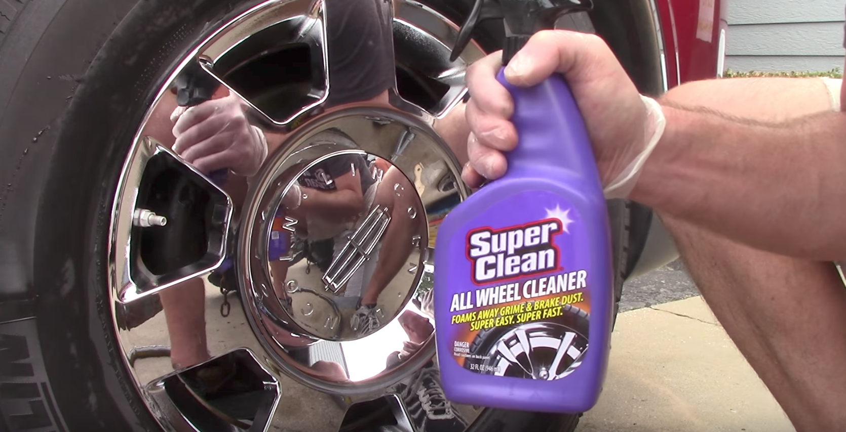 SuperClean All Wheel Cleaner shines up your wheels, making