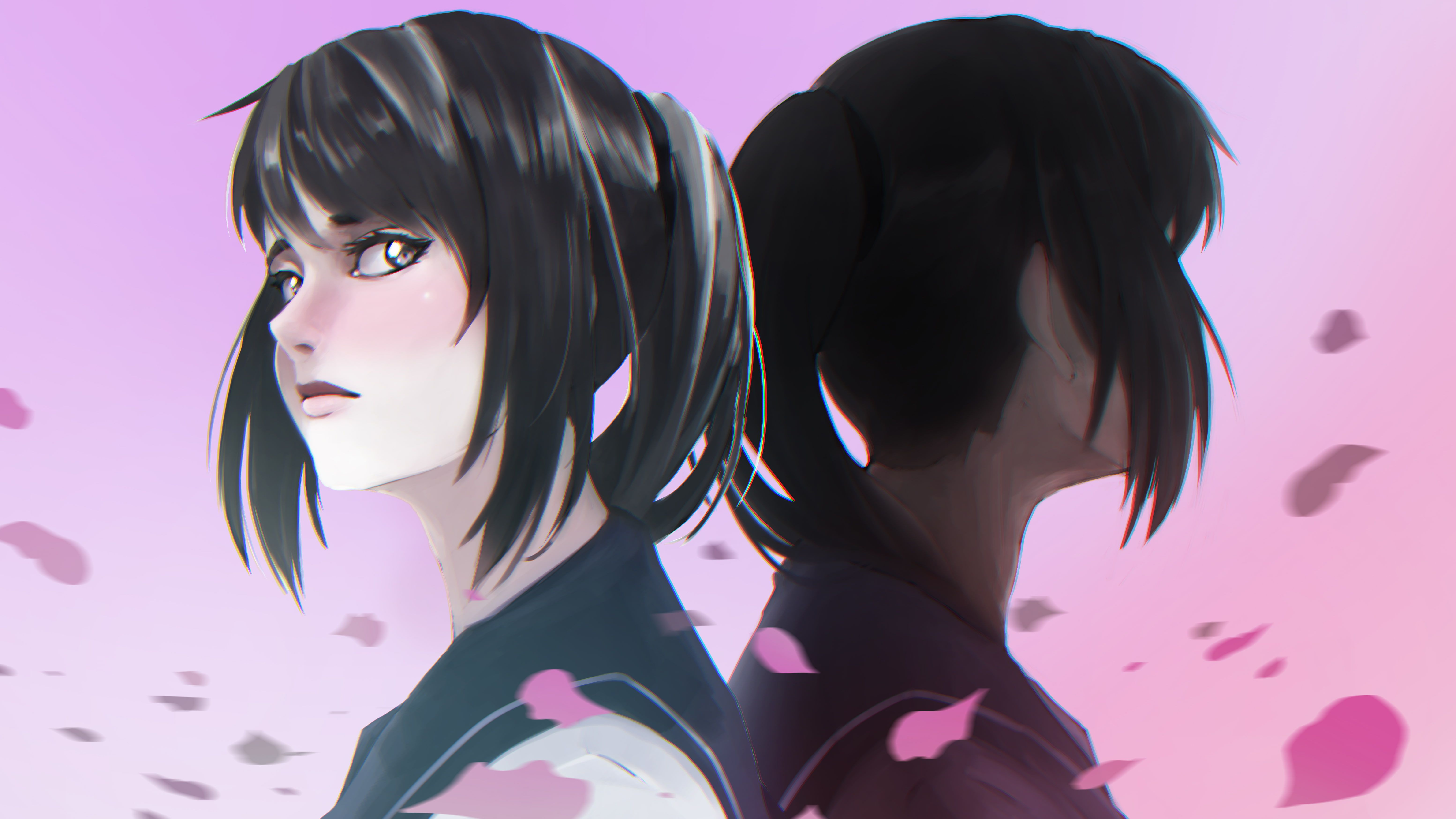 Yandere Simulator Yandere Chan Anime Anime Girls Dark Eyes Dark Hair Purple Background 5k Wallpaper Hdwallpaper De Yandere Simulator Yandere Yandere Girl