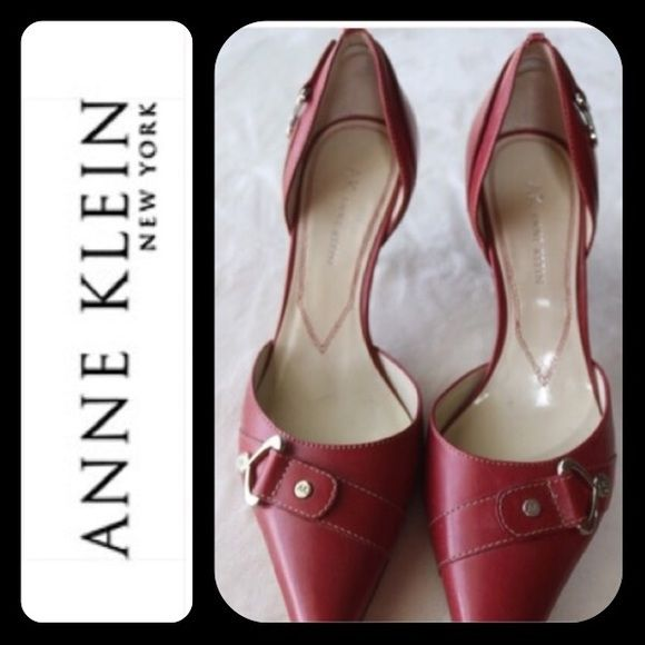 NWOT! ANNE KLEIN Red Heels/Shoes   Red