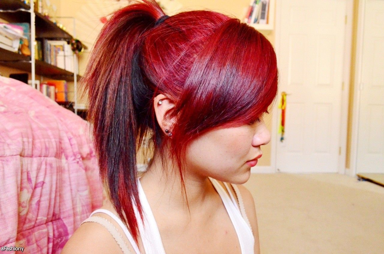 red ombre hair color ideas tumblr - fashion style trend 2016