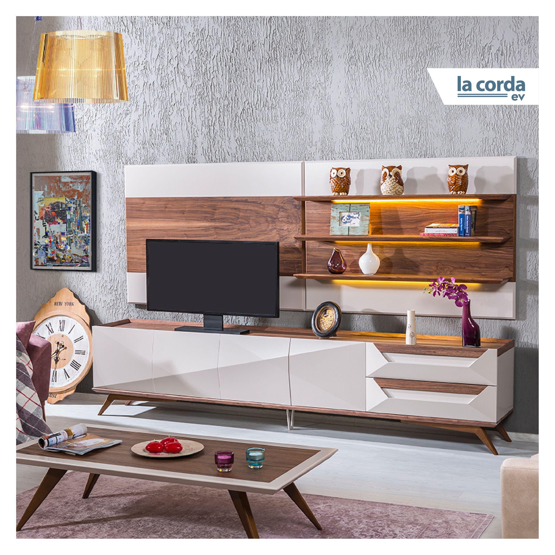 Angola Serisinin Ekru Rengi Tv Unitesi Ile Evinizin Tarzini Belirleyin Www Lacorda Com Tr Lcd Panel Design Furniture House