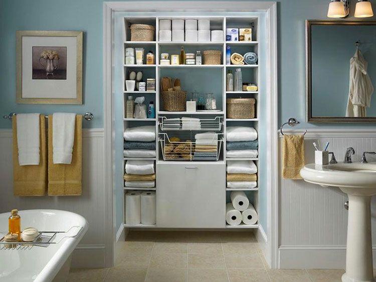 Idee di design per scaffali e pensili da bagno bagni di