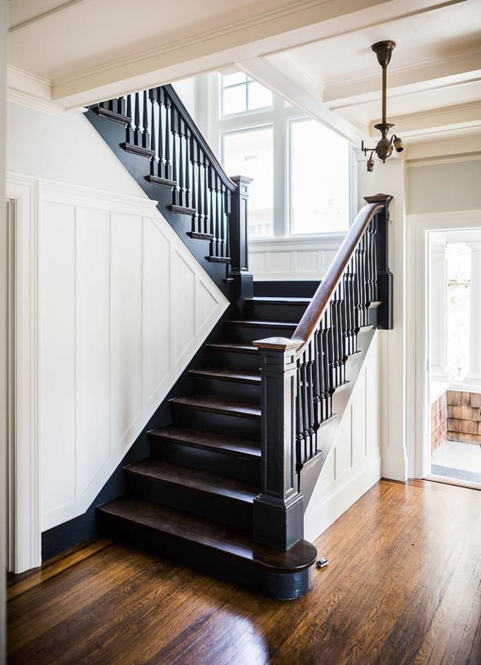 Best Black Stairwell Black Stair Railing Black Stairs Stair 400 x 300