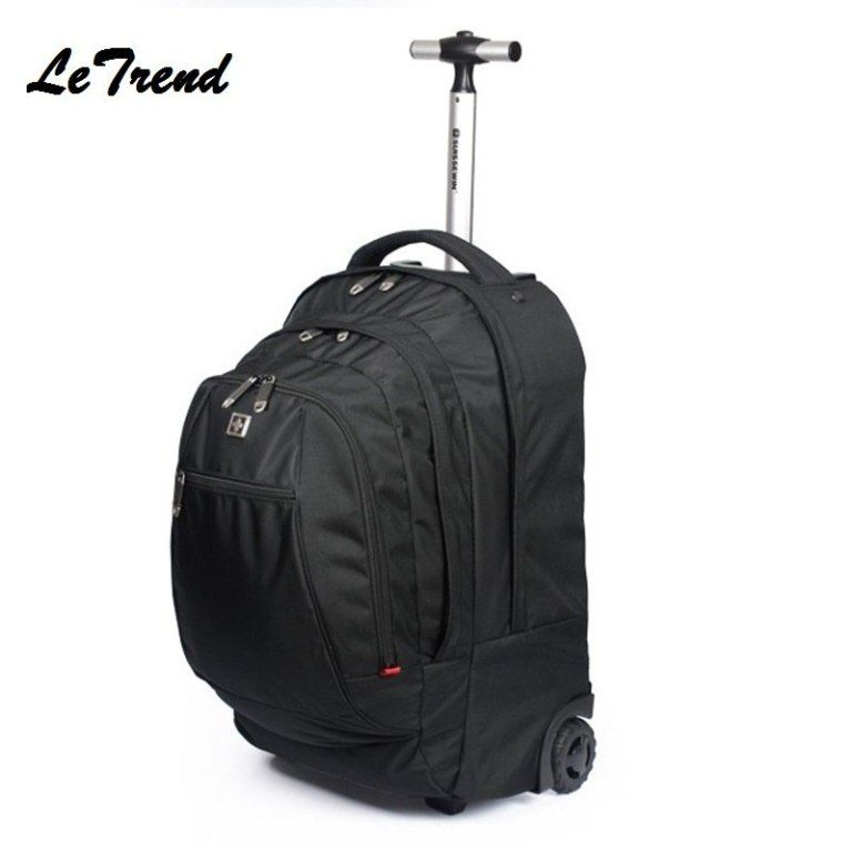 b06e73ed4b3 New Business Rolling Luggage Spinner Backpack Shoulder Travel Bag Casters  Trolley Carry On Wheels School Bag
