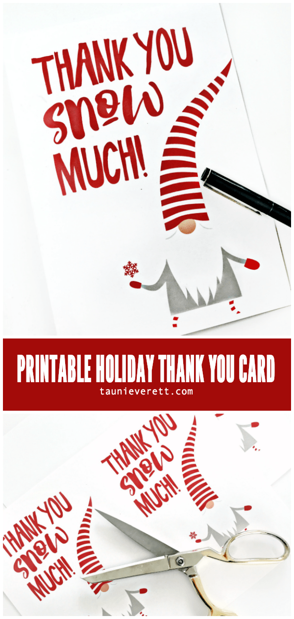 Gnome Holiday Thank You Card C Tauni Everett Hero Free Holiday Cards Cards Free Christmas Tags