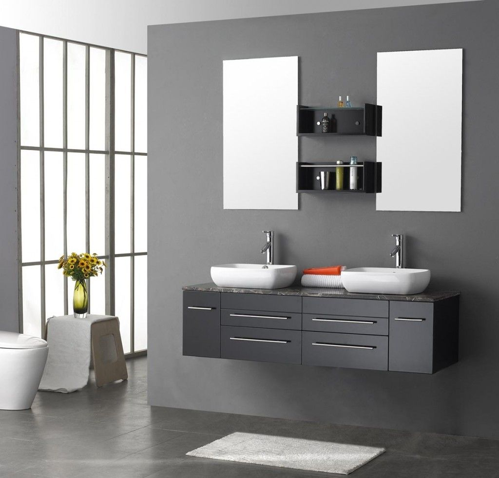 designer bathroom cabinets. Decoration: Contemporary Modern Bathroom Vanities Cabinets Vanity Design Plan White Wall Ceramic Tiles Brown Wooden Wood Floor Plans Mirror Drawer Stainless Designer N