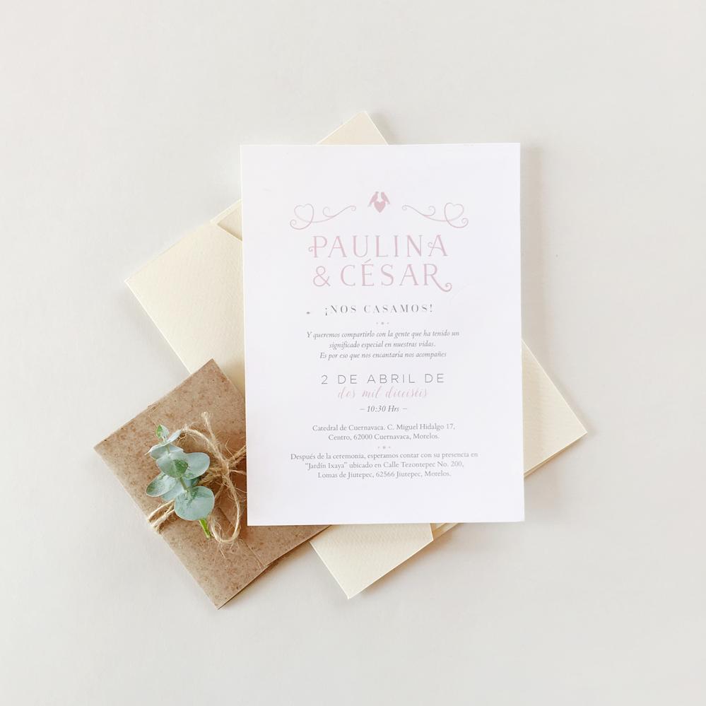 P & C.Wedding invitation. Invitaciones de boda. Papelería social. Stationery.