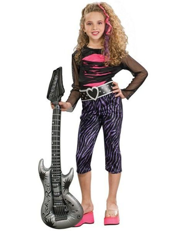 Girls 80s rock star costume halloween costumes pinterest girls 80s rock star costume solutioingenieria Image collections