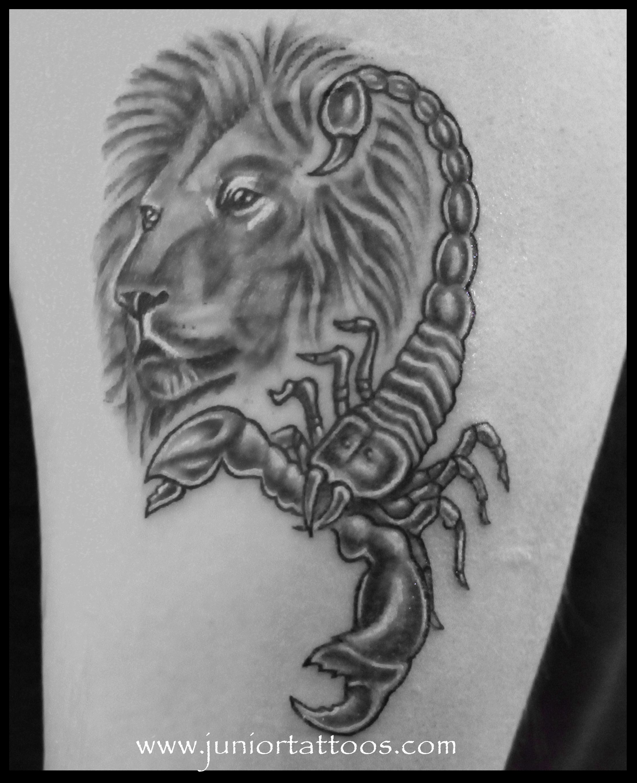 Lion and scorpion fusion tattoo   Scorpio tattoo, Tattoos