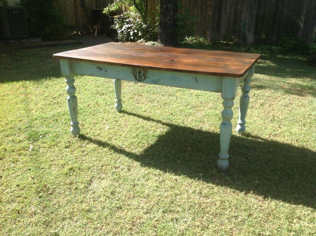 Monogrammed Reclaimed Barn Wood Dining Table Barn wood