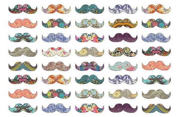 New Miniature Printables | Mustache Mania Art Print by Bianca Green | Society6