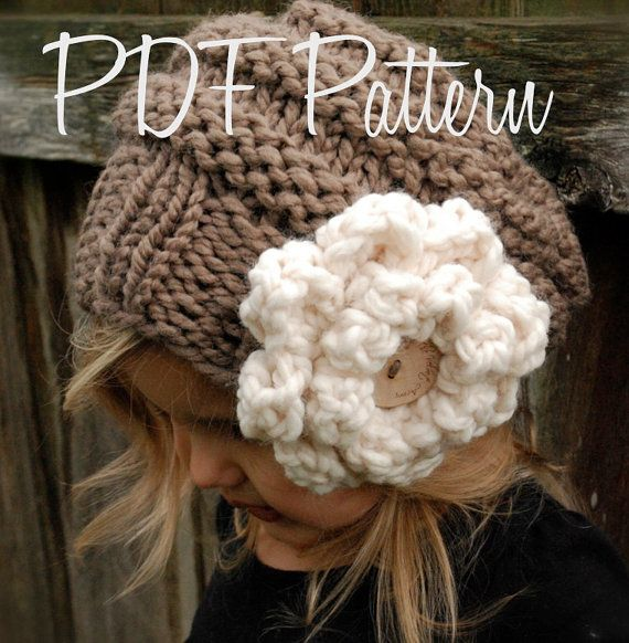 Knitting PATTERN-The Sophia Slouchy (Toddler, Child and Adult sizes ...
