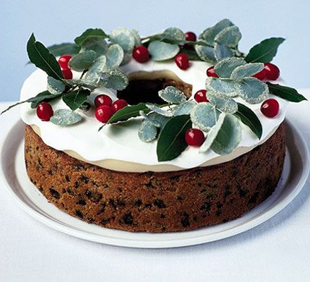 Elegant Berry Wreath Cake Recipe Christmas Baking Christmas