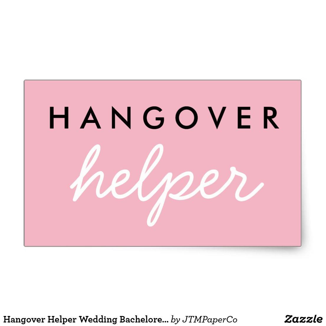 Hangover Helper Wedding Bachelorette Favor Sticker   Hangover ...