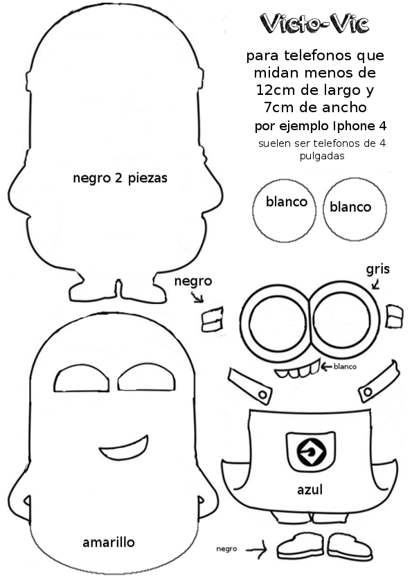 Funda para el móvil de fieltro de Los Minions | поделки | Pinterest ...