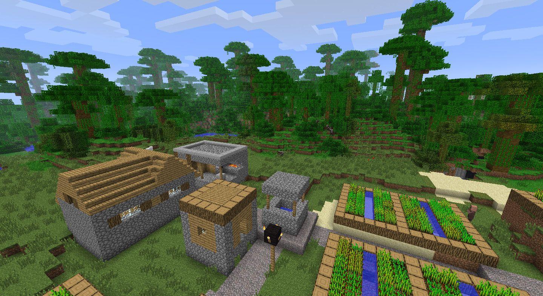 Minecraft Village Minecraft Jungle Village Seed