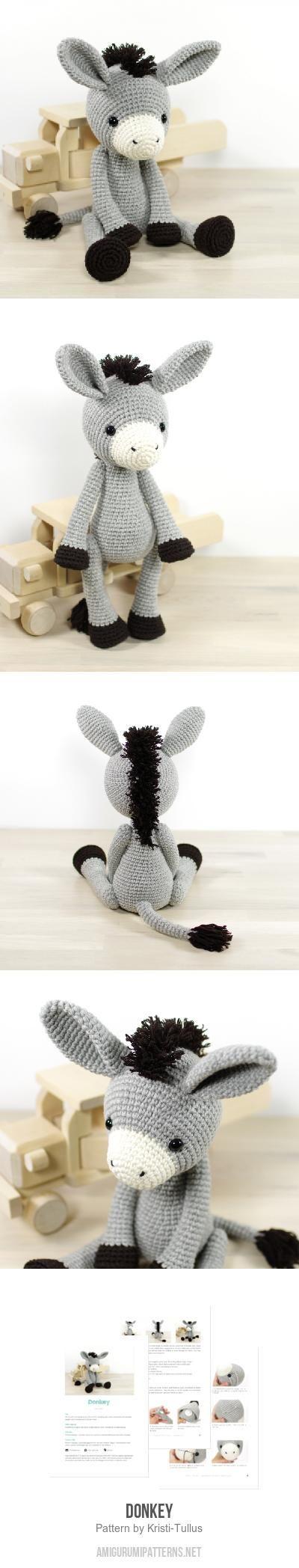 Donkey amigurumi pattern by Kristi Tullus | Ganchillo, Tejido y ...