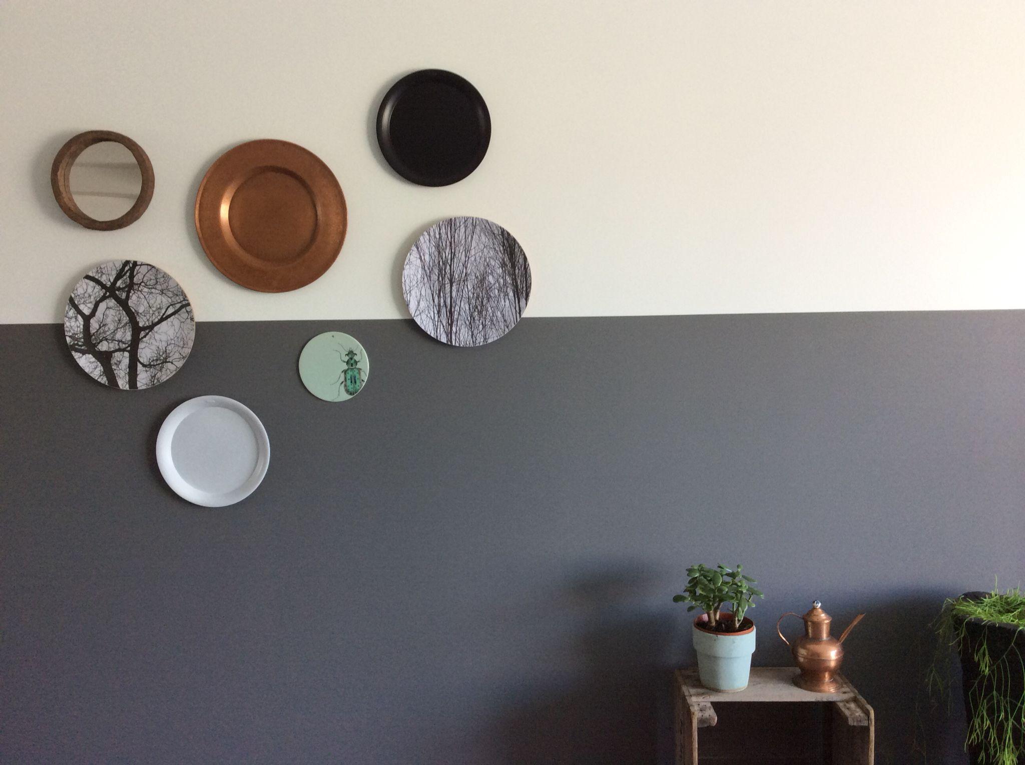 Hedendaags Halve muur geverfd / bordjes ophangen / vt wonen (met afbeeldingen PD-18