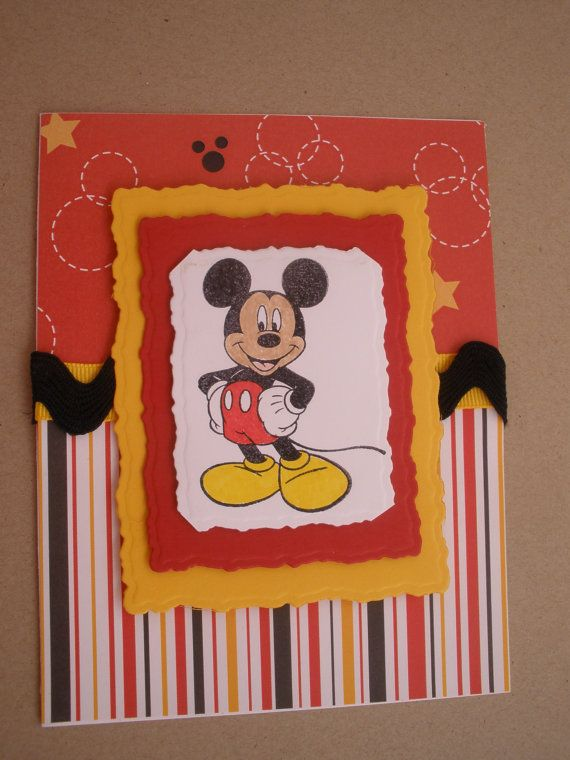 Handmade Mickey Mouse Birthday Card – Handmade Mickey Mouse Birthday Invitations