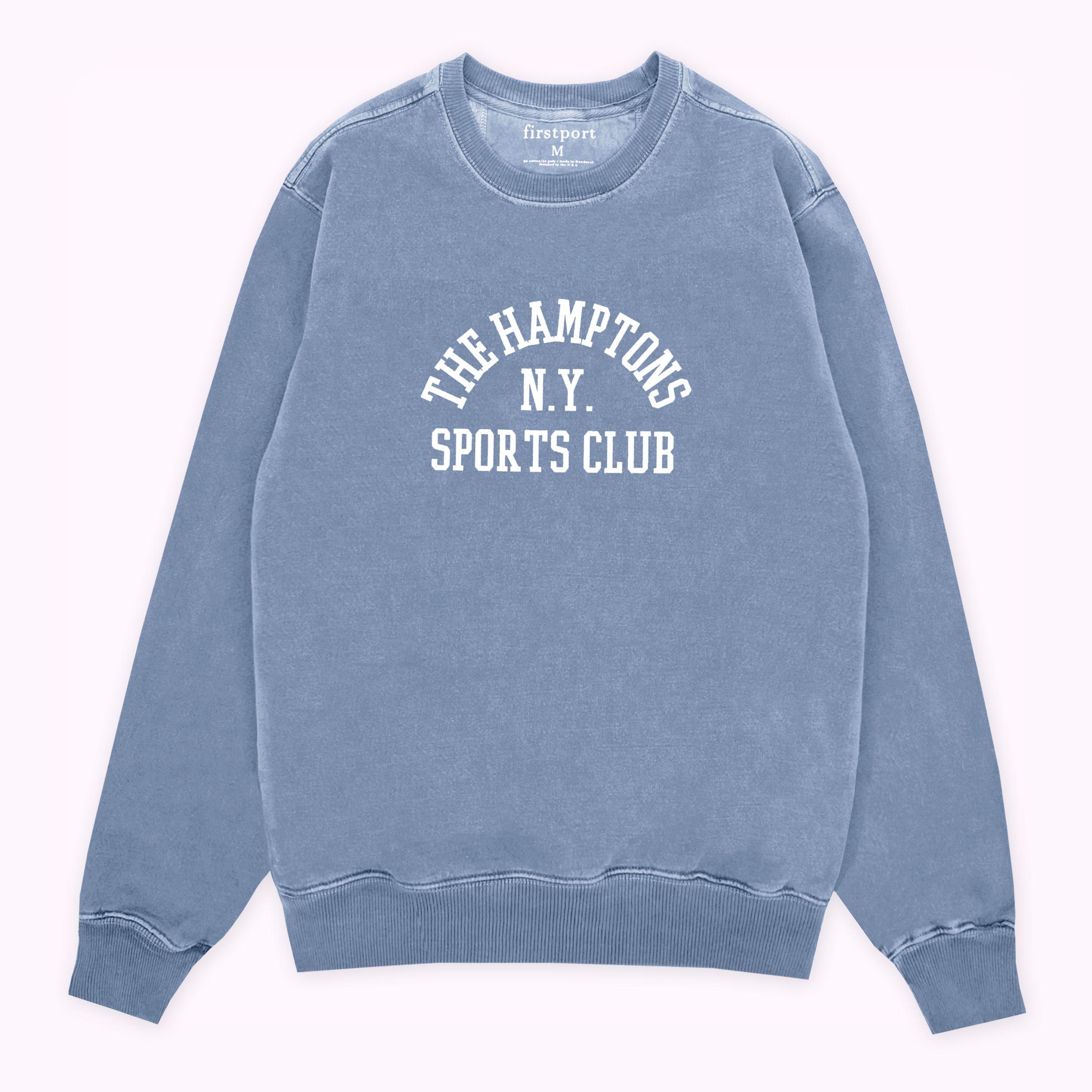 The Hamptons Sc Crewneck Washed Blue Vintage Crewneck Club Shirts Garment Dye [ 2474 x 2474 Pixel ]