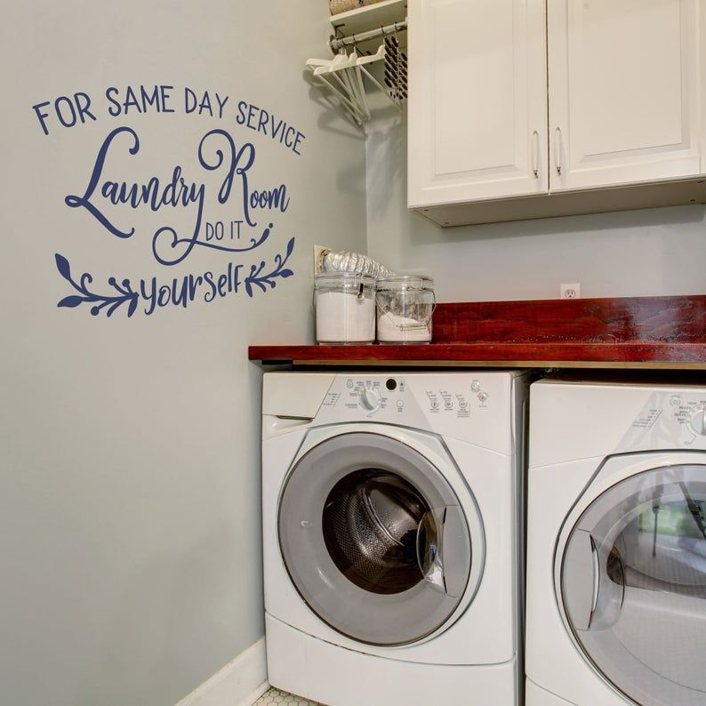 Funny Laundry Room Wall Decal Laundry Room For Same Day Service