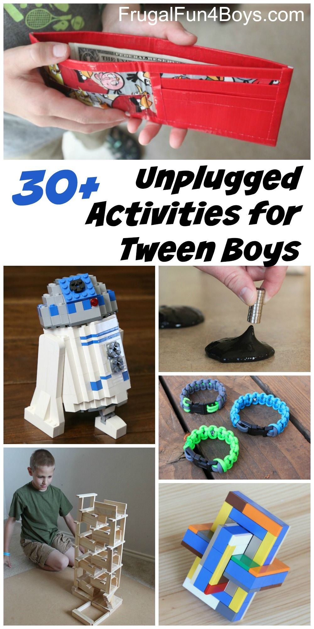 50 Unplugged Activities For Tween Age Boys Frugal Fun For Boys