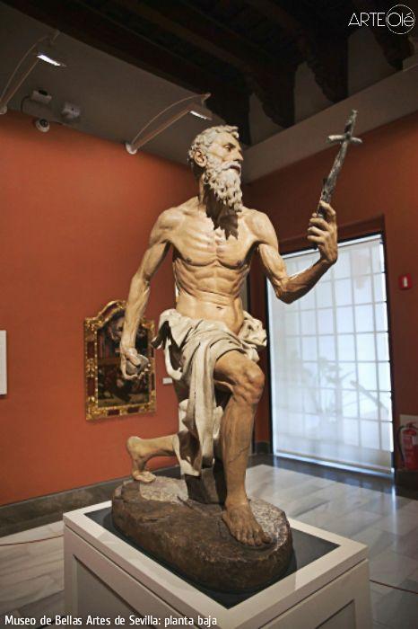 Museo De Bellas Artes De Sevilla Planta Baja Http Arteole Com En Museum Of Fine Arts Of Sevilla Ground Floor Sculpture Museum St Jerome Fine Art
