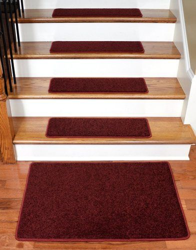 Best Dean Carpet Stair Treads 27 X 9 Ruby Red Plush 13 400 x 300