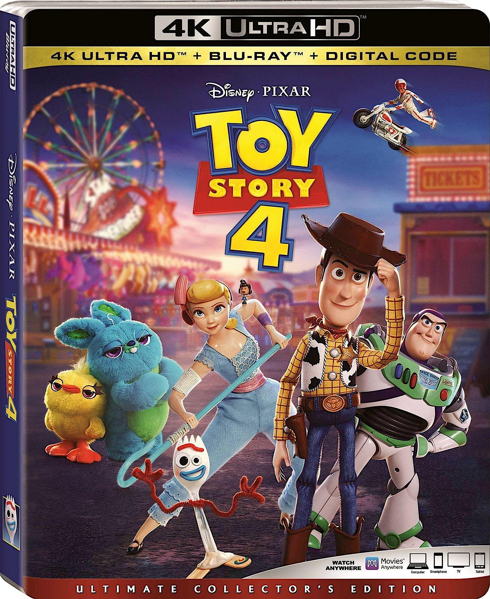 Toy Story 4 4k Blu Ray Disney Toy Story Pixar Toys Blu Ray