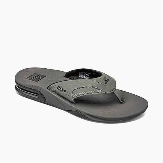 Reef Fanning Grey Black Mens Sandals 2026 GRB
