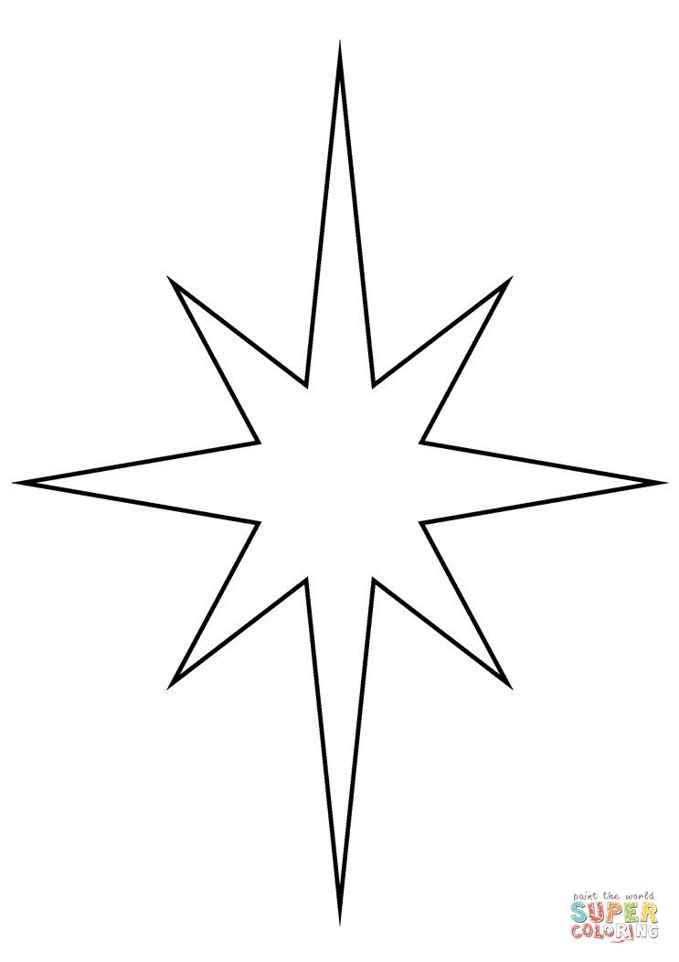 picture regarding Star Coloring Pages Printable titled Xmas Star coloring webpage Free of charge Printable Coloring Web pages