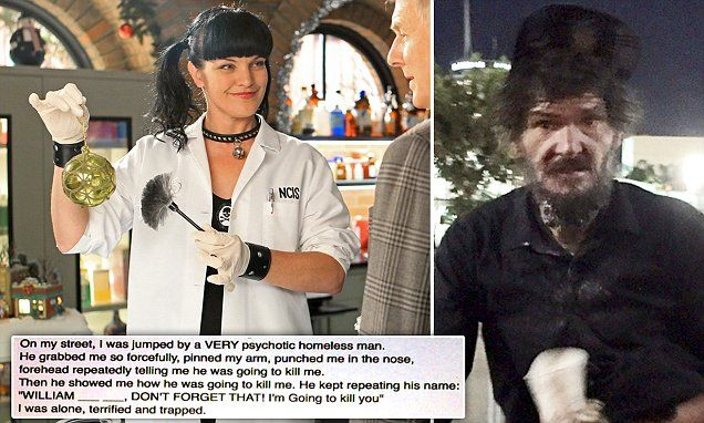 Ncis Star Pauley Perrette Attacked By Psychotic Homeless Man Homeless Man Ncis Stars Pauley Perrette