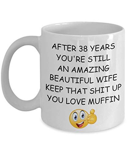 38 Year 38th Wedding Anniversary Gift For Wife Surprise P