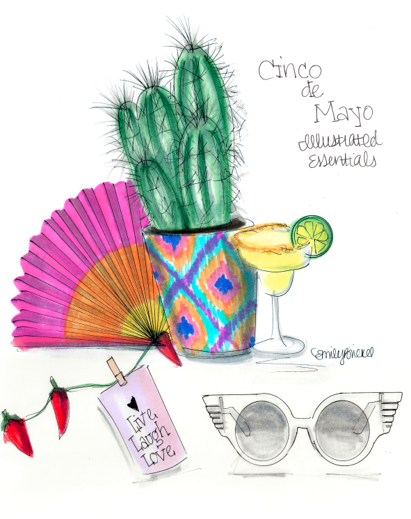 How to have the best weekend ever starting tomorrow… Cinco De Mayo Illustrated Essentials by Emily Brickel http://blog.emilybrickel.com/how-to-have-the-best-weekend-ever-starting- tomorrow/#sthash.Zppg0jvs.dpbs  sunglasses Jeremy Scott transparent, cactus, margarita
