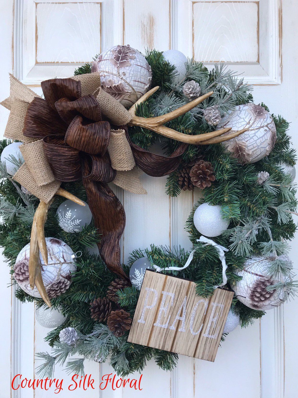 holiday christmas antler wreath - HD 1242×1656