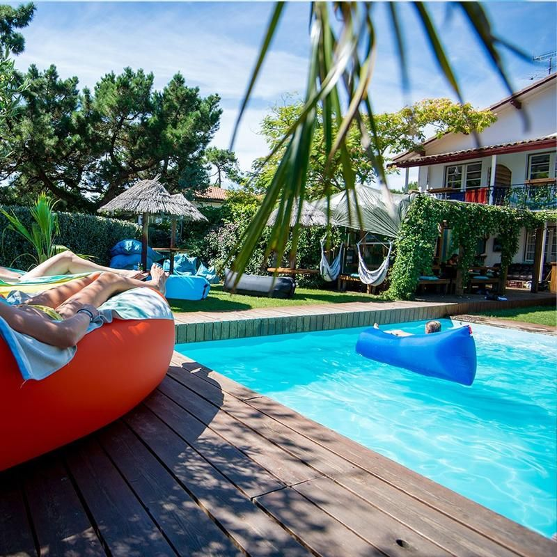 Laybags Fatboy Lamzac Yellow Inflatable Sofa Outdoor Outdoor Pool Air Lounger