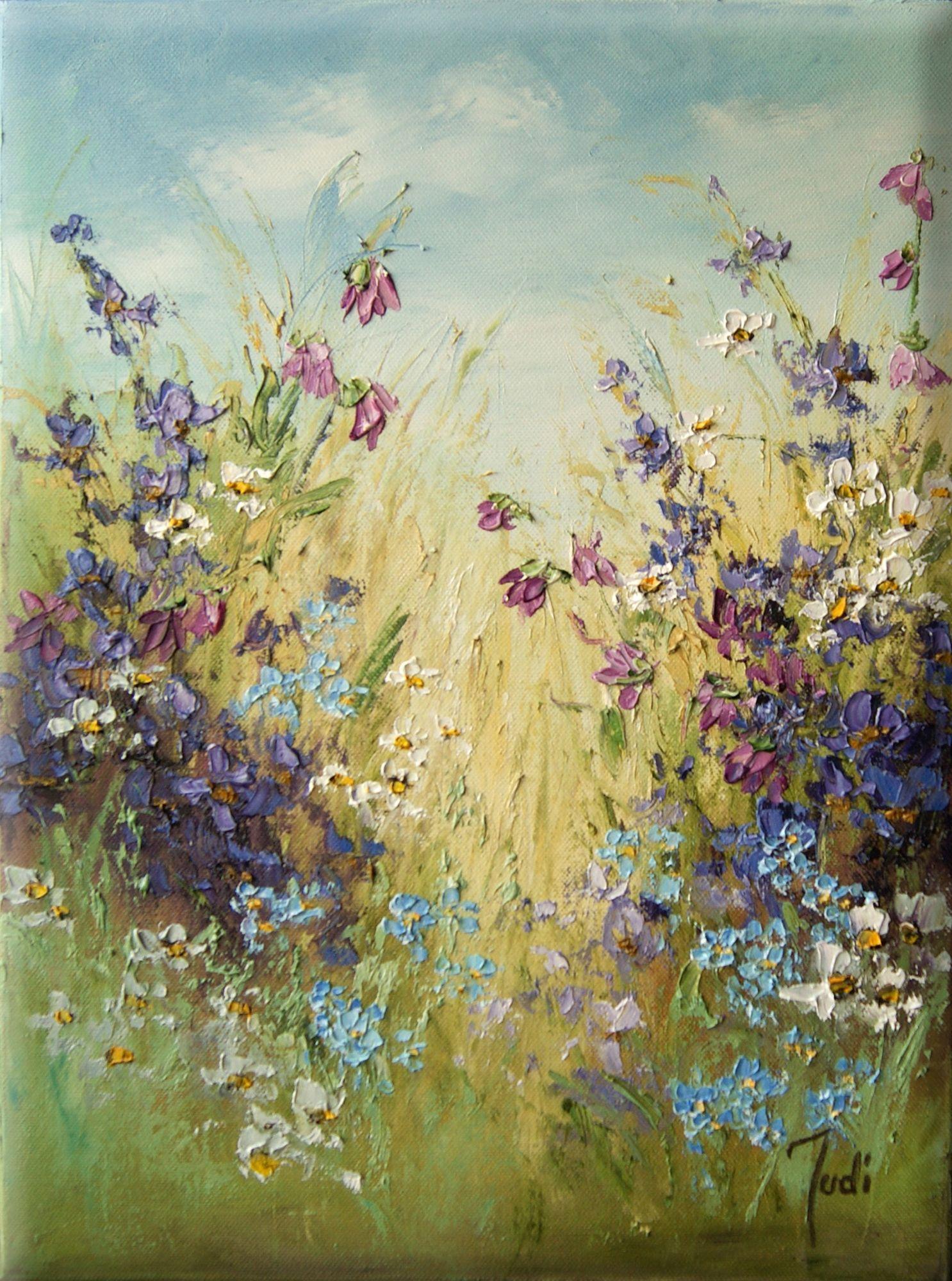 Kup Teraz Na Allegro Pl Za Judiart Obraz Olejny Kwiaty Laka Wsrod Kwiatow 9380472299 Allegro Pl Radosc Amazing Art Painting Floral Painting Painting