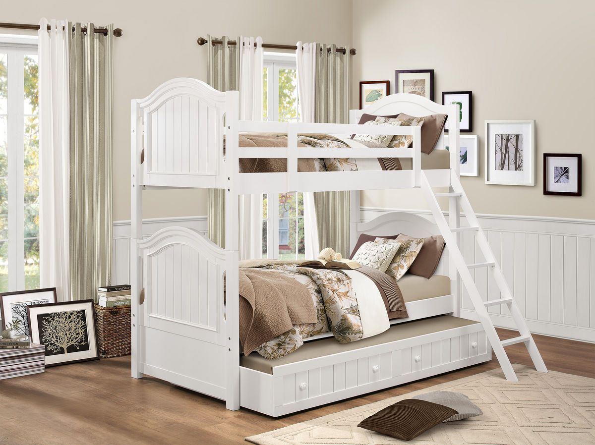 Home elegance clementine twin full bunk bed bf for