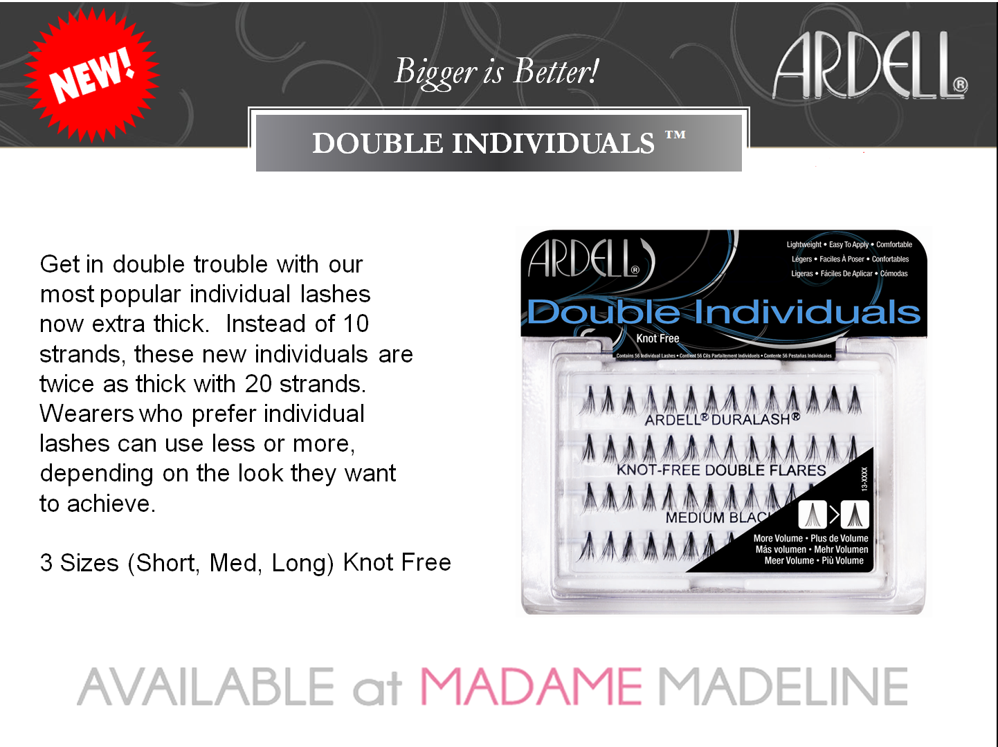 2af1b34b2ef Ardell Double Volume Individual Lashes at #madamemadeline #ardell #duralash