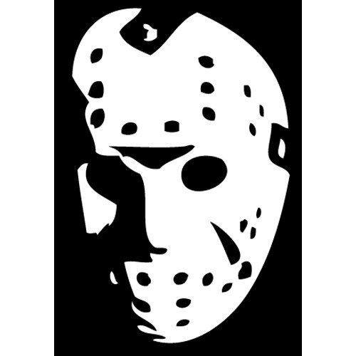 2ae6d38d5129 Jason Voorhees Face- Friday the 13th Scary Car Laptop Vinyl Decal Sticker