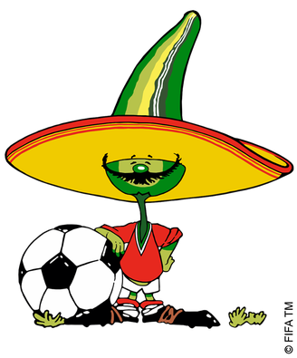 Mascot 1986 Pique World Cup World Cup Logo Mexico World Cup