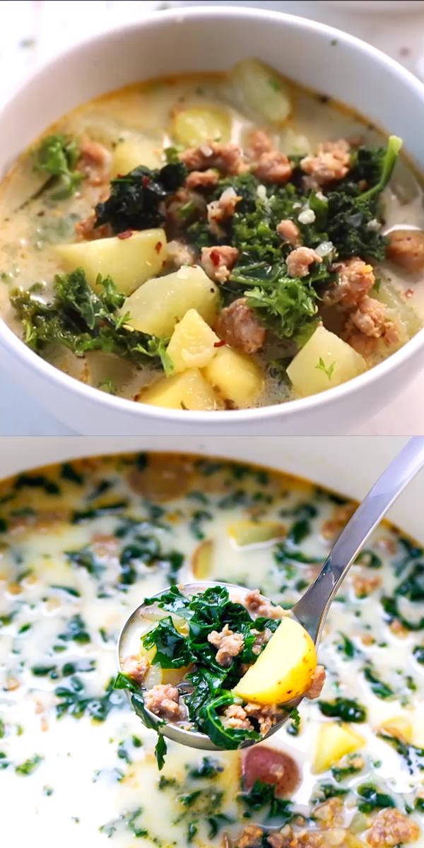 Easy Kale Potato And Sausage Soup Recipe (aka Zuppa Toscana) images