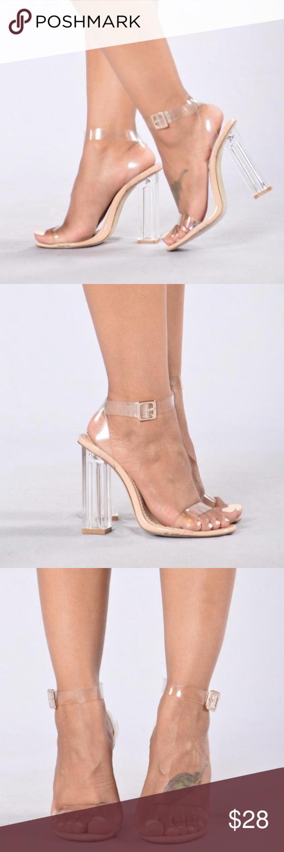 cbe96809ef8 Fashion Nova transparent heels size 6. brand new. fits like 5.5 ...