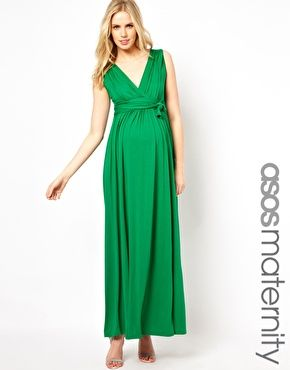 94be1e6a92c Enlarge ASOS Maternity Exclusive Maxi Dress With Grecian Drape ...